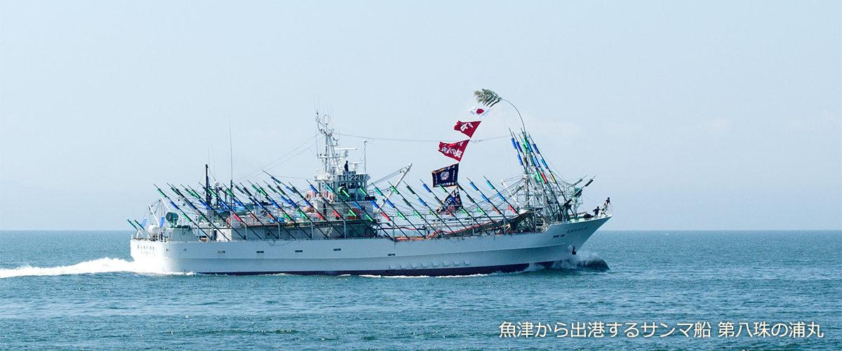 魚津から出港するサンマ船